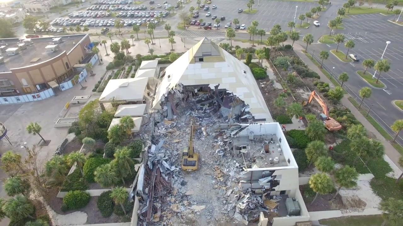 Hard Rock Cafe Demolished Dji P3 4k