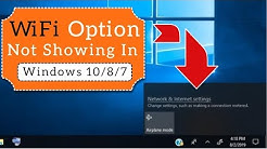 WiFi Option Not Showing on Windows 10 ( Easy Fix )