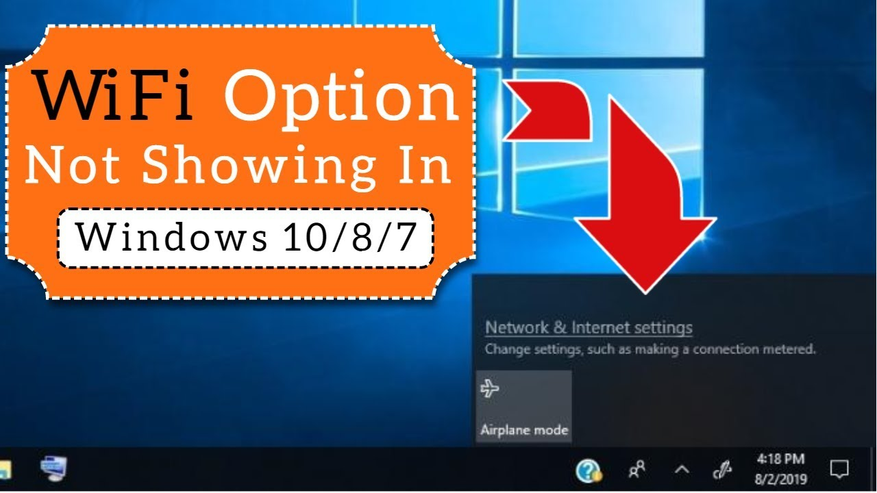 Wifi Option Not Showing On Windows 10 Easy Fix Youtube
