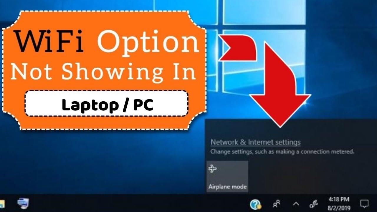 WiFi Option Not Showing on Windows 10  Easy Fix  fix WIFI Problem