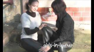 Girls in Miss Sixty Leather Pants