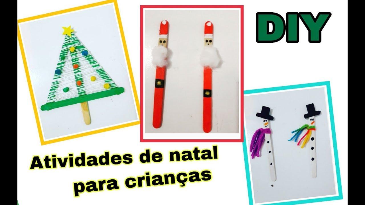 Atividades De Natal Para Crianças 3 Idéias Feito Com Palito De Picolé Cristinamoura Youtube