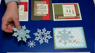 cricut and ctmh snowflake and 2012 christmas card workshop designs