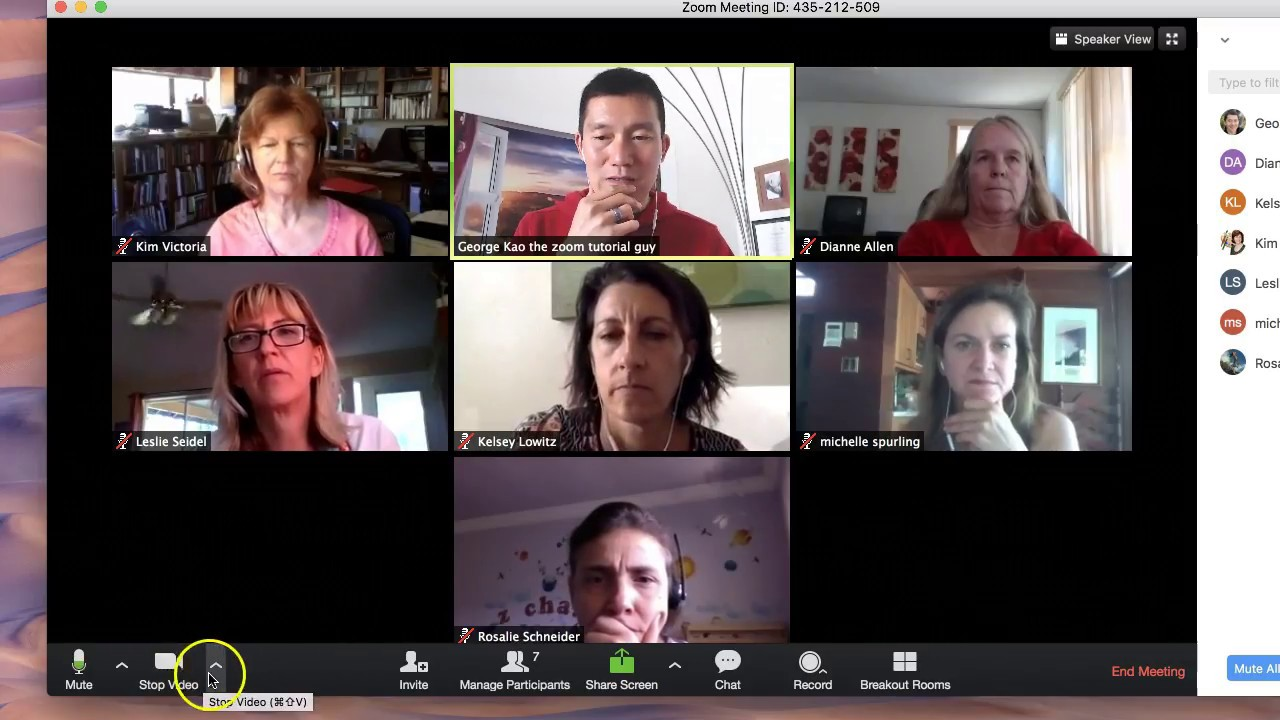 Zoom Meeting How To Use With Example Of A Breakout Group Youtube