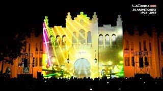 El alcalde de Albacete y el presidente de C-LM en el estreno del video-mapping Plaza Toro Albacete