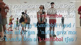How to Say Comfortable in British English