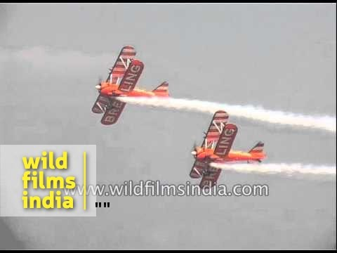 Famous Breitling sky wingwalkers perform in Indian skies!