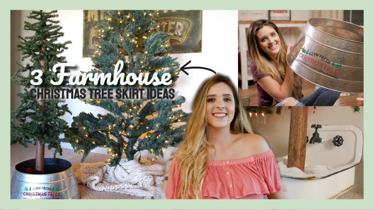 3 Diy Christmas Tree Skirt Ideas That Are Not Tree Skirts Youtube