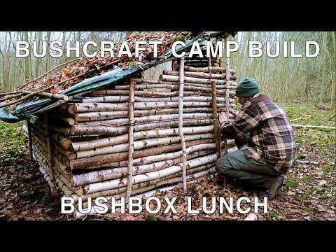 Bushcraft Camp: Shelter Build & Bushbox Cooking
