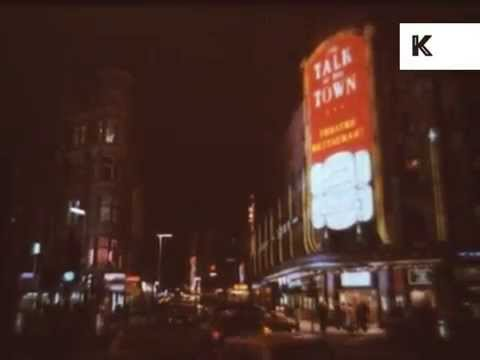 Early 1980s London Theatreland at Night, West End