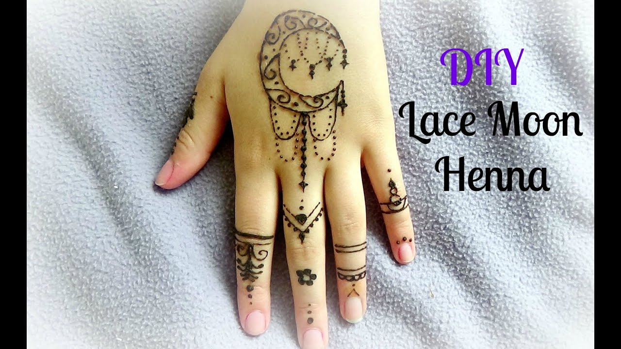Diy Henna Art Simple Moon Design Youtube