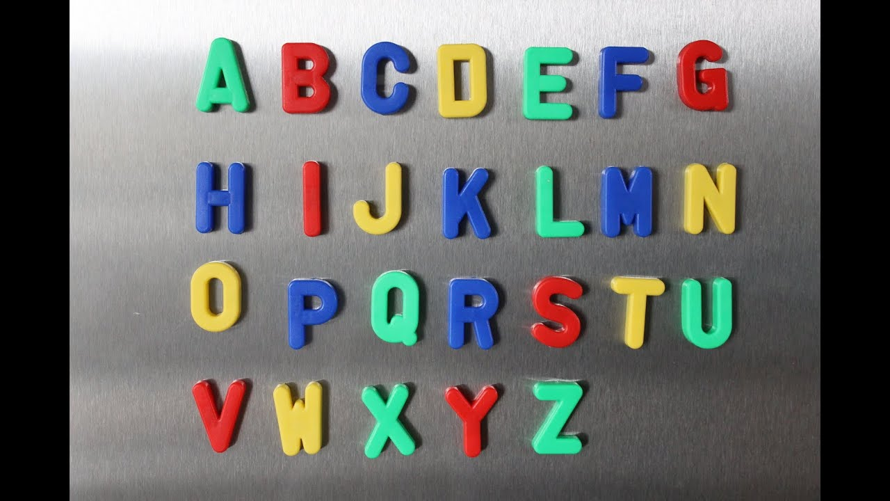 Magnetic Capital Letters And Lowercase Letters And Numbers