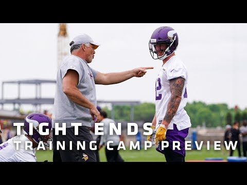 Training Camp Preview: Tight Ends Featuring Kyle Rudolph, David Morgan | Minnesota Vikings