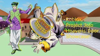 Roblox Project Jojo Heavens Door Showcase!