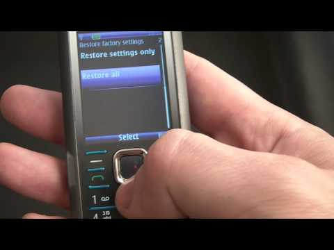 How To Restore A Nokia 7210C Supernova Cell Phone To Factory Settings