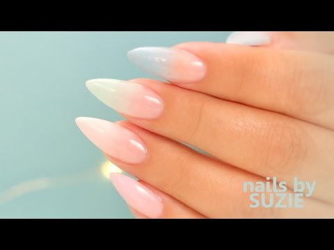 Pastel Color Fade Acrylic Nails – Step By Step Tutorial