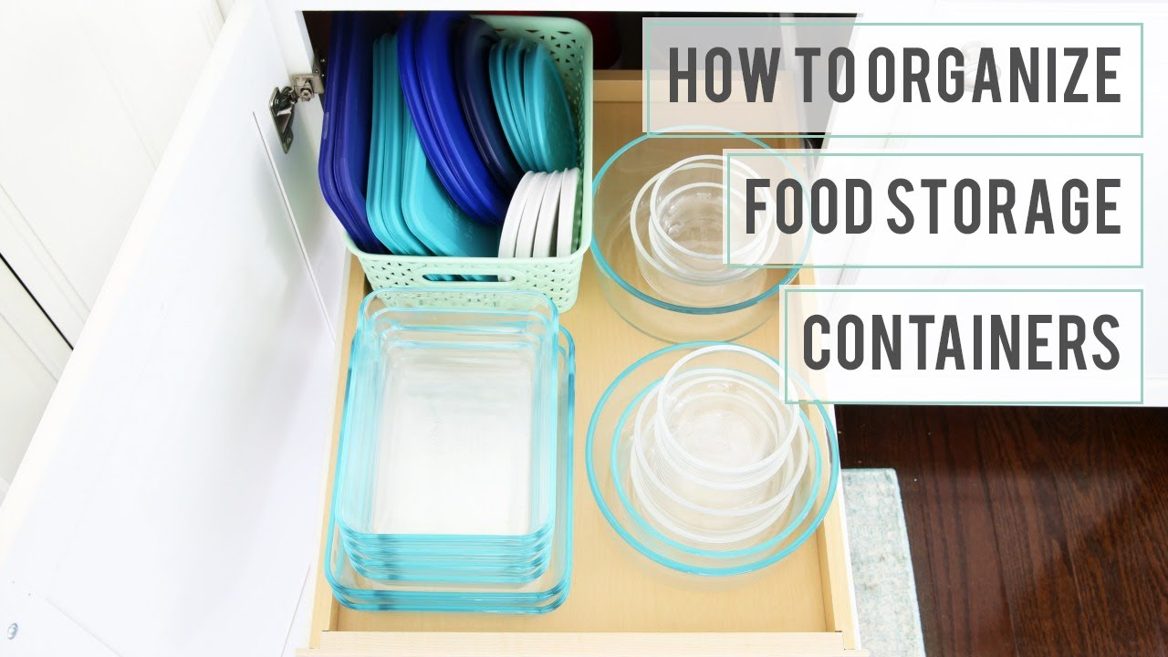 How to Organize Food Storage Containers Organized Tupperware YouTube