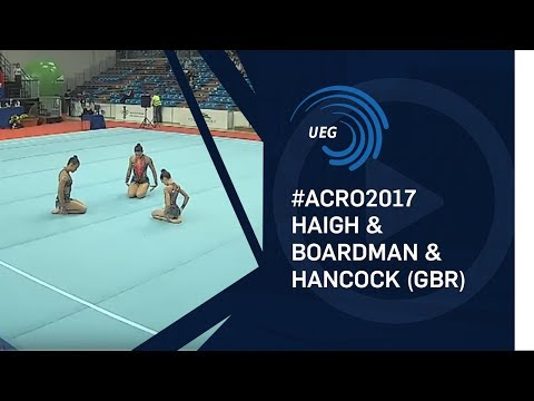 Women's group Great Britain - 2017 Acro European silver medallists, balance