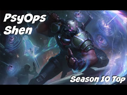 League of Legends: PsyOps Shen Top Gameplay