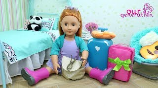 packing my doll bags for vacation our generation dolls