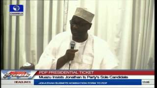 Gambar cover Muazu Insists Jonathan Is Party's Sole Candidate
