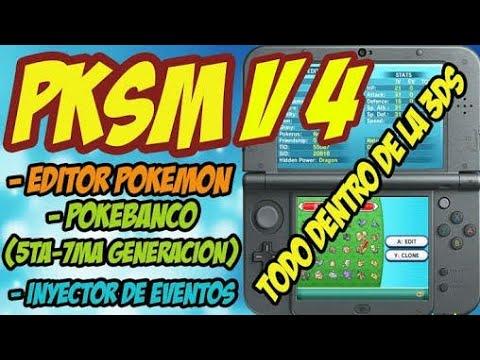 Usando pksm editor de pokemon no proprio 3ds