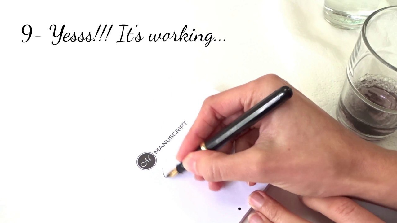 How To Get The Ink Flowing In My Calligraphy Pen Youtube