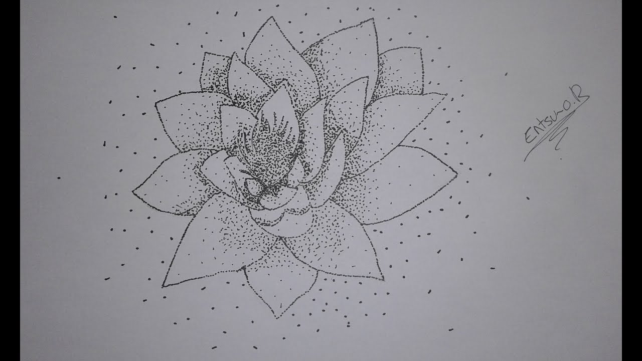 Dessiner Une Fleur De Lotus En Pointillisme Speed Draw