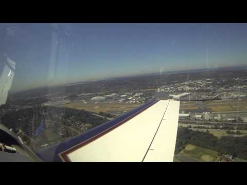 Approach and Landing at Boeing Field (KBFI) from the East