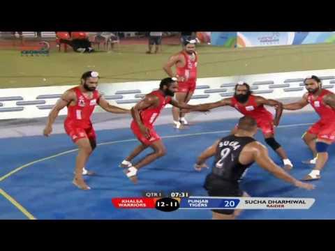 World Kabaddi League | Match 16: Khalsa Warriors Vs Punjab Tigers