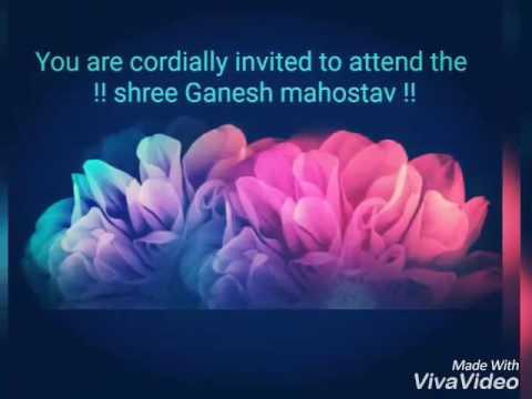 Invitation Card For Ganesh Chaturthi