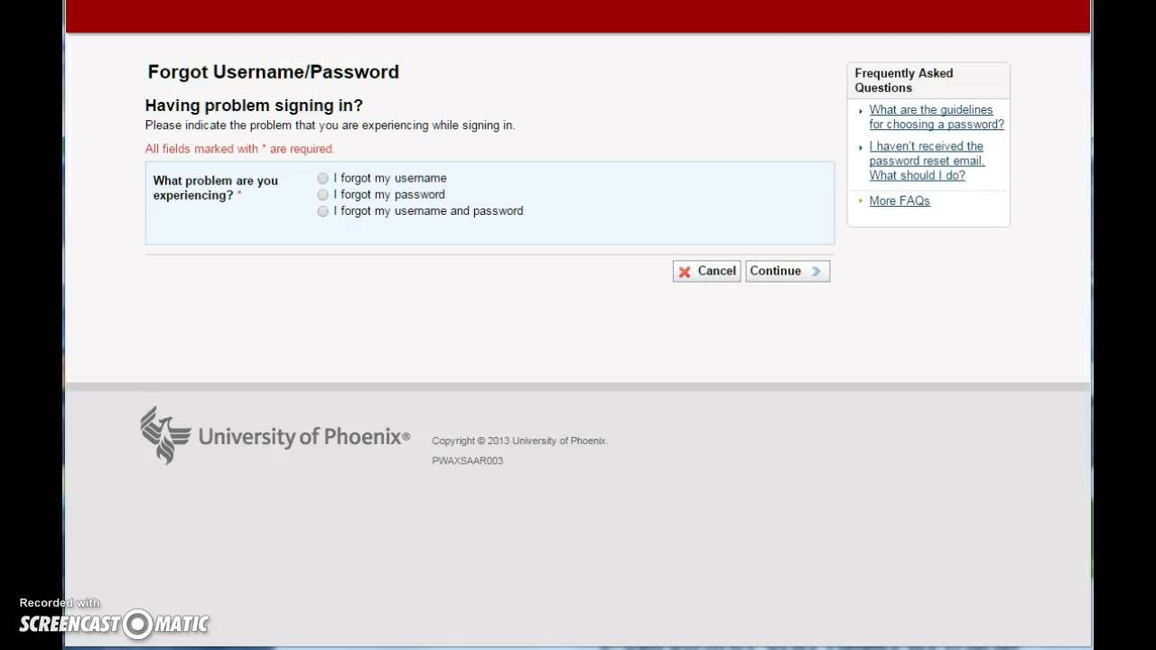 phoenix university student login ecampus youtube