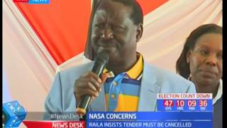 NASA's presidential candidate Raila Odinga threatens to go to court over ballot printing tender