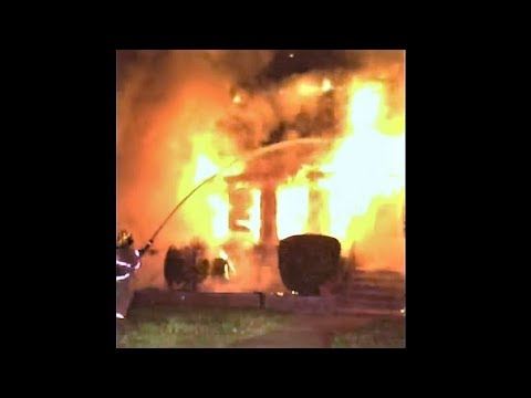 Early video & radio traffic from deadly Maryland house fire