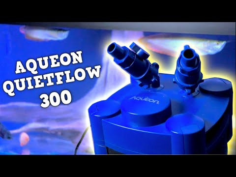 Aqueon Quietflow 300 Canister Filter UNBOXING, SET UP AND REVIEW.
