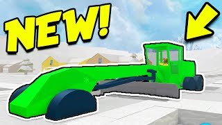 NEW GRADER IN SNOW SHOVELING SIMULATOR! *BEST VEHICLE!* (Roblox)