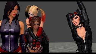 Catwoman, Harley Quinn, Psylocke, Talia vs Thugs (part 1)