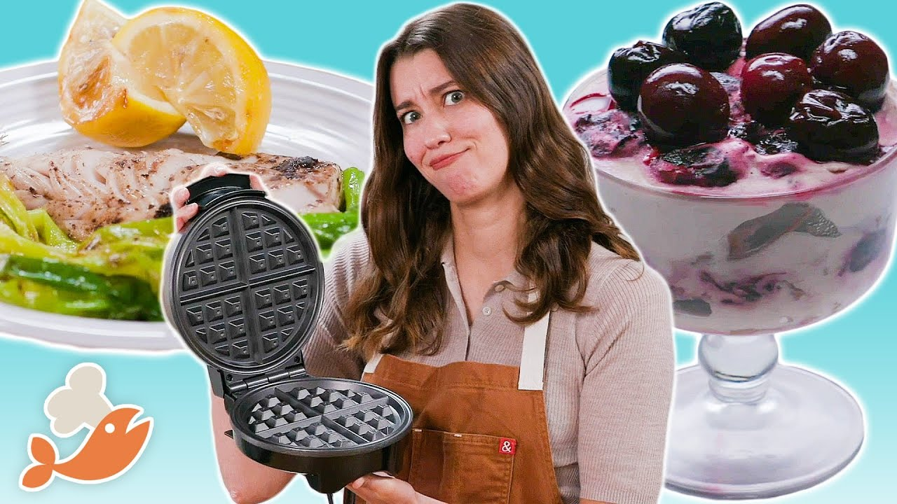 Can This Chef Cook A 3-Course Meal With A Waffle Iron? - download from YouTube for free