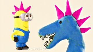 T-Rex Dinosaur's New Hairstyle! Cartoons For Children