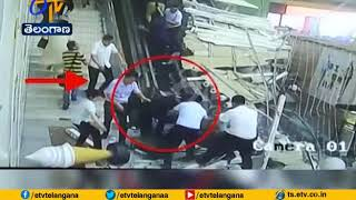 Terrifying Moment Ceiling Collapses on Tourists | in China