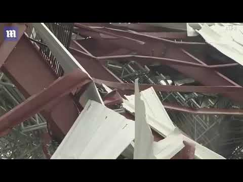 Severe weather heavily damages Lucas Oil Speedway