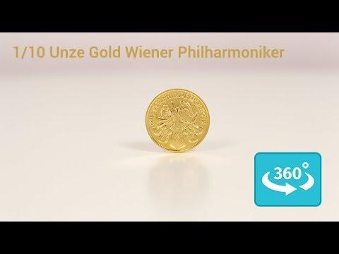 110 Unze Goldmünze Wiener Philharmoniker In 360 Ansicht Youtube