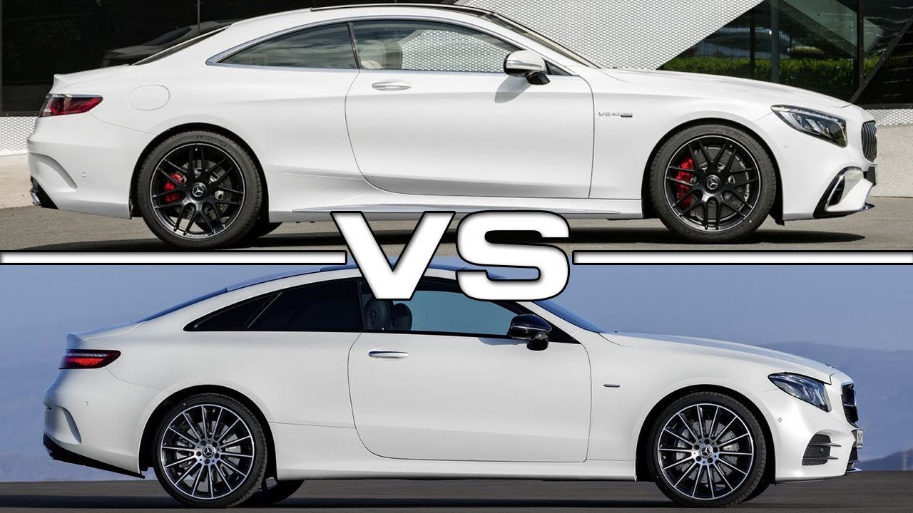 2018 mercedes s class coupe vs 2018 mercedes e class coupe for Mercedes benz c class vs e class