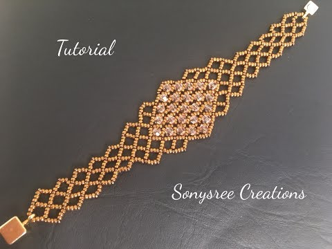 Stunning Beaded  Bracelet!!! 🔶(Right Angle weave stitch)