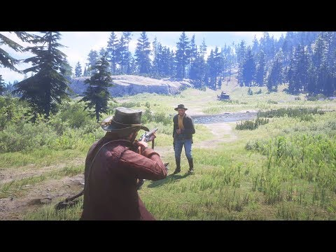 Red Dead Redemption 2 - Epic High Action Combat, Bounty Hunt & Funny Moments Compilation #2