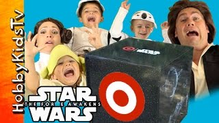 Galaxy's Biggest Star Wars Surprise Toy Box! Target Toys with HobbyKidsTV