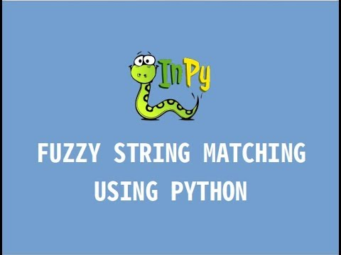 Fuzzy string matching using Python