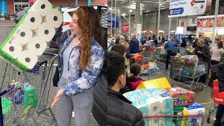 Panic-buying at Long Island stores amid the coronavirus outbreak