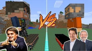 EXÉRCITO DO BOLSONARO VS EXÉRCITO DO LULA E HADDAD NO MINECRAFT !!