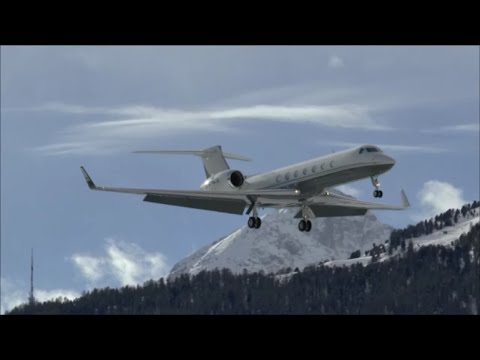Mountains & strong winds: Samedan Airport [FULL 1080p MOVIE] - 05/01/2015